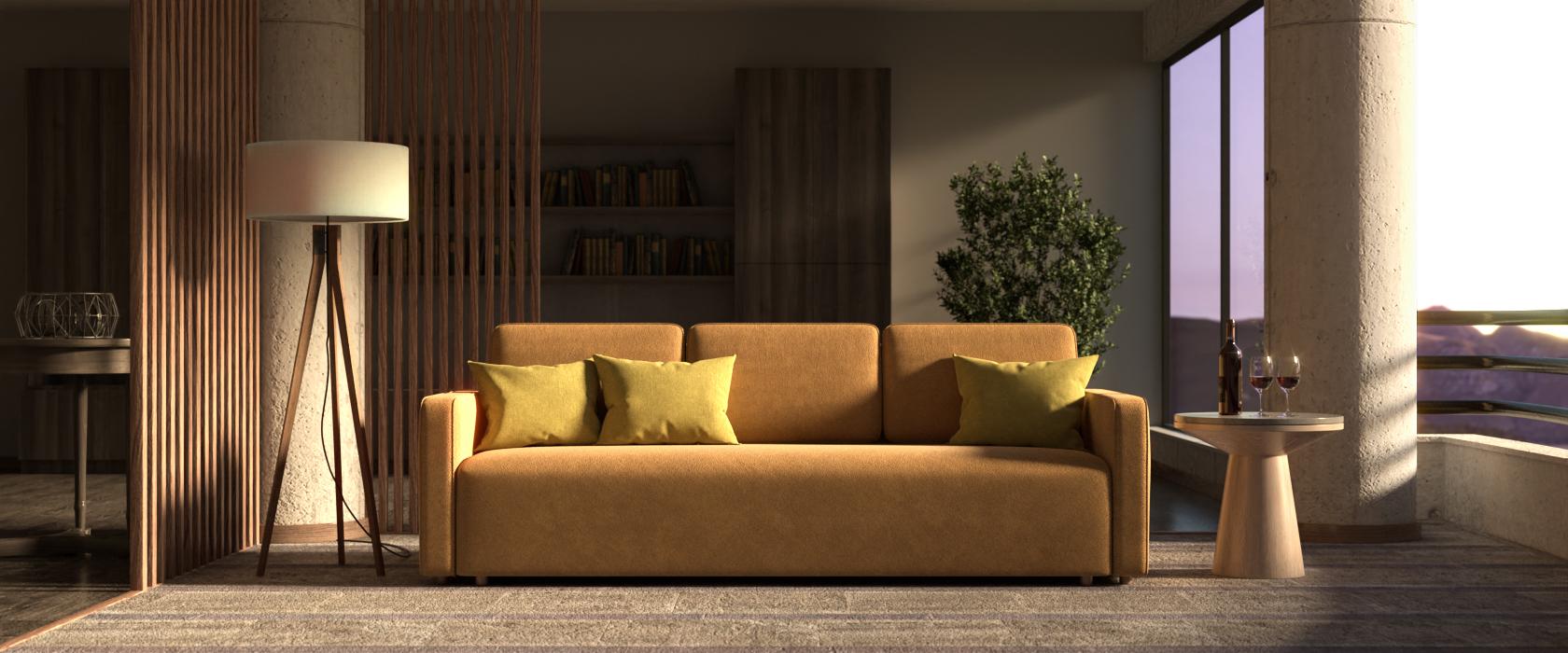 Тримісний диван Alonzo - Фото 2 - Pufetto