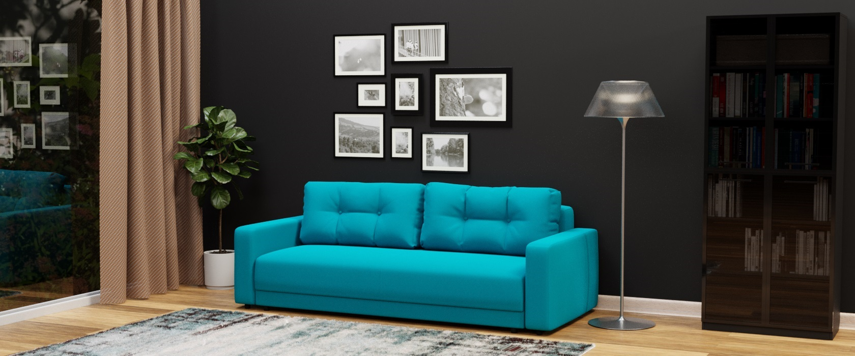 Тримісний диван Famiglia - Фото 2 - Pufetto