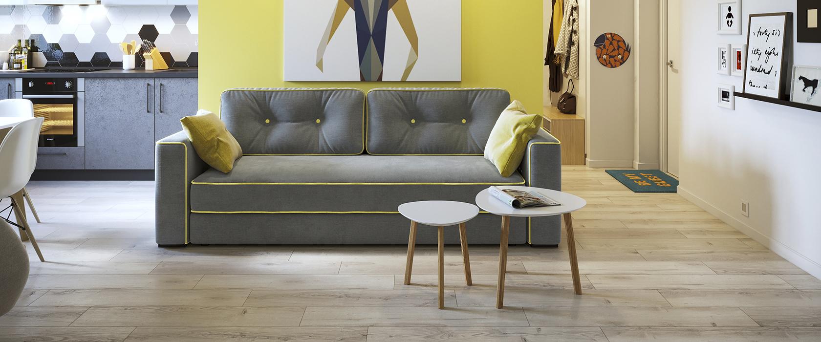 Трехместный диван Silvio - Фото 1 - Pufetto