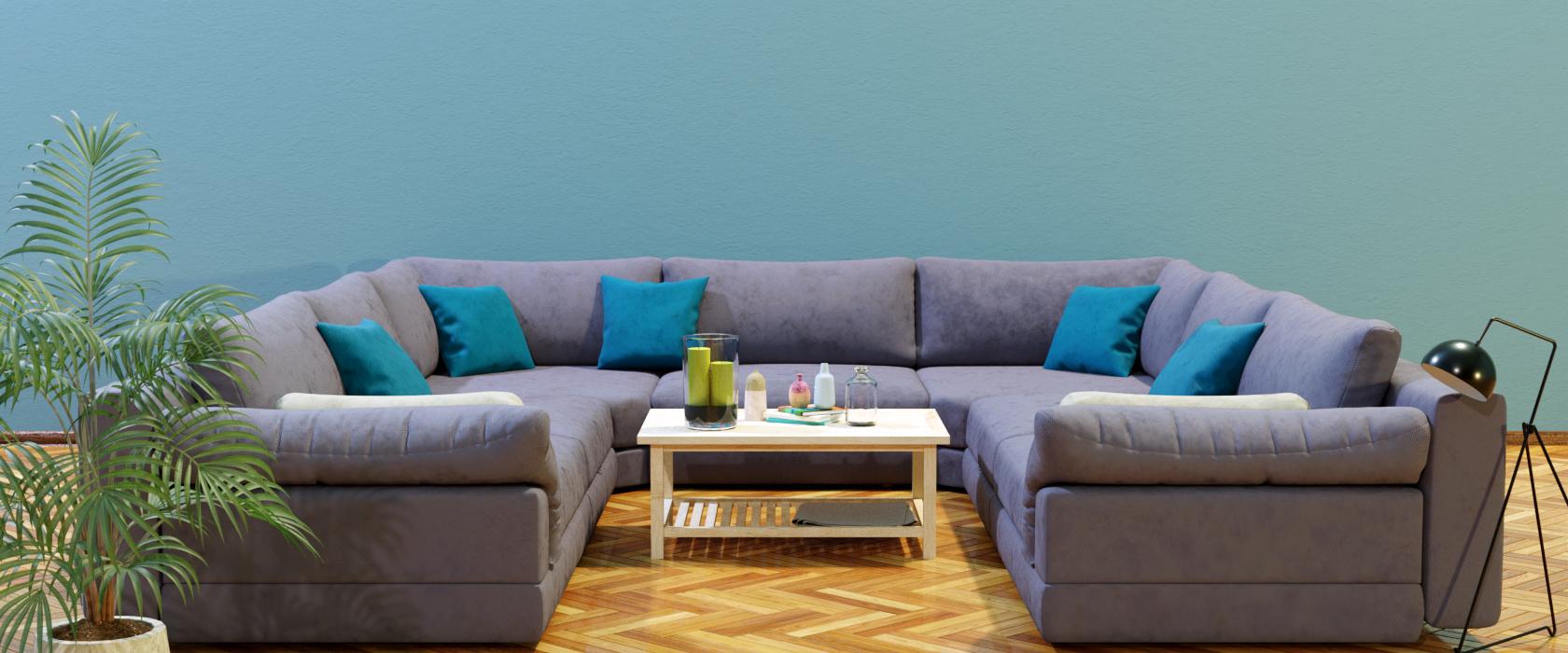 Модульный диван Claudia 340x355 - Фото 2 - Pufetto