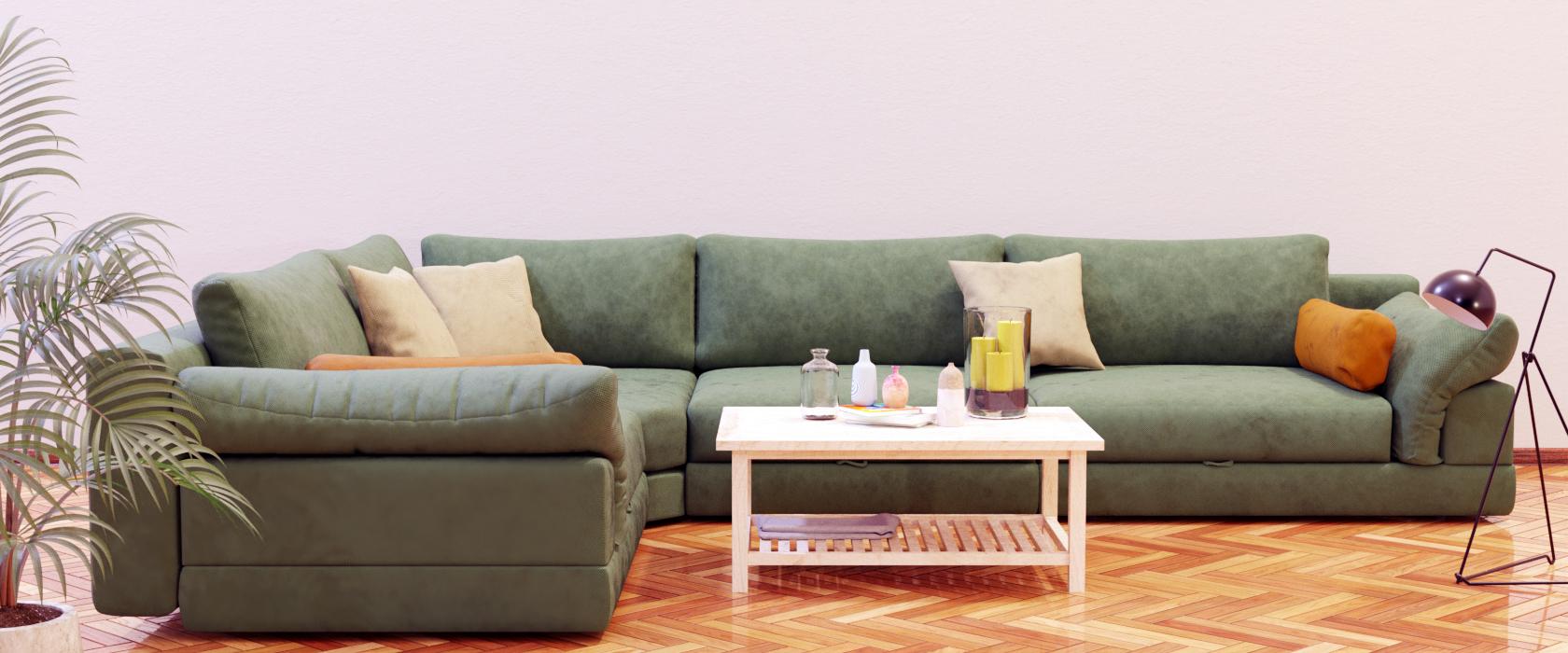 Модульный диван Claudia 355x255 - Фото 2 - Pufetto