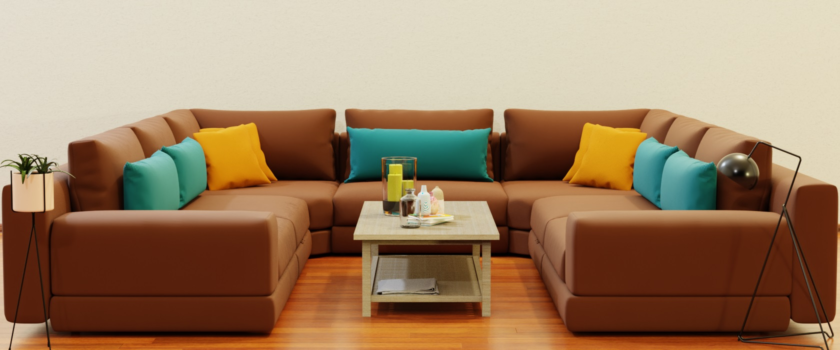 Модульный диван Dario 340x355 - Фото 2 - Pufetto