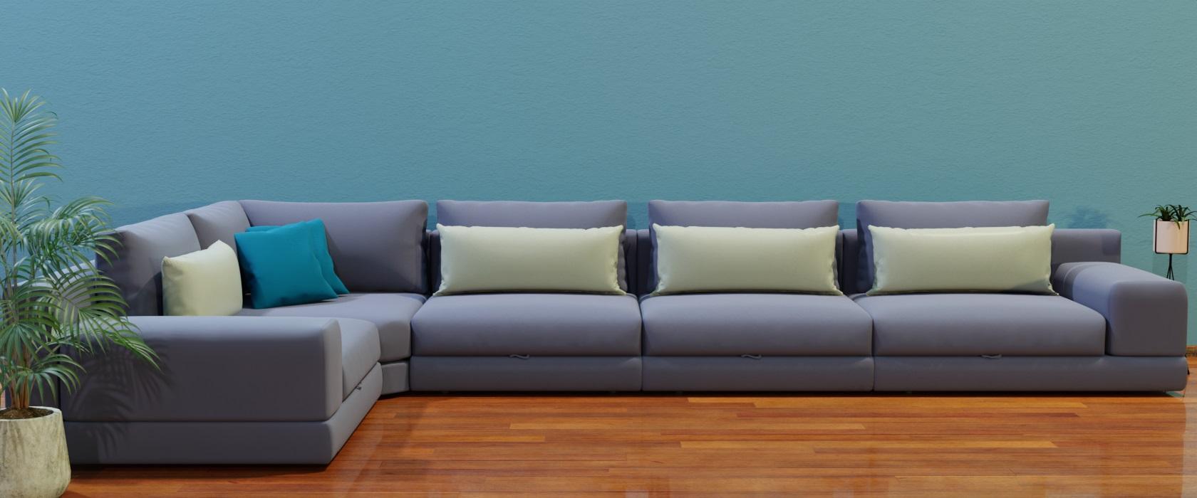 Модульний диван Dario 455x255 - Фото 2 - Pufetto