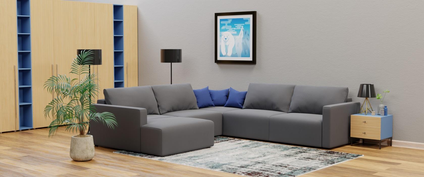 Модульный диван Greta с оттоманкой 317x317 - Фото 2 - Pufetto