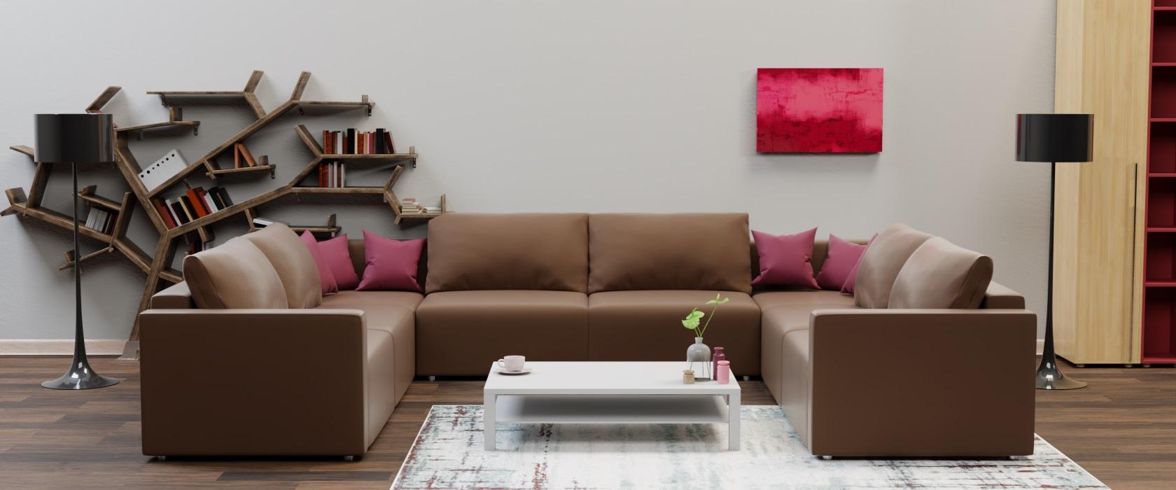 Модульний диван Greta П образний 404x317 - Фото 2 - Pufetto