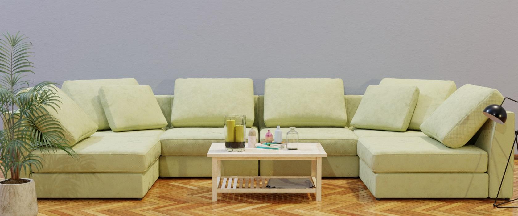 Модульный диван Lisboa 396x198 - Фото 2 - Pufetto