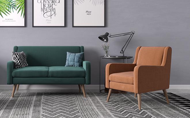 Двухместный диван Perla в интерьере