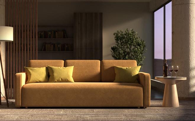 Тримісний диван Alonzo в інтер'єрі