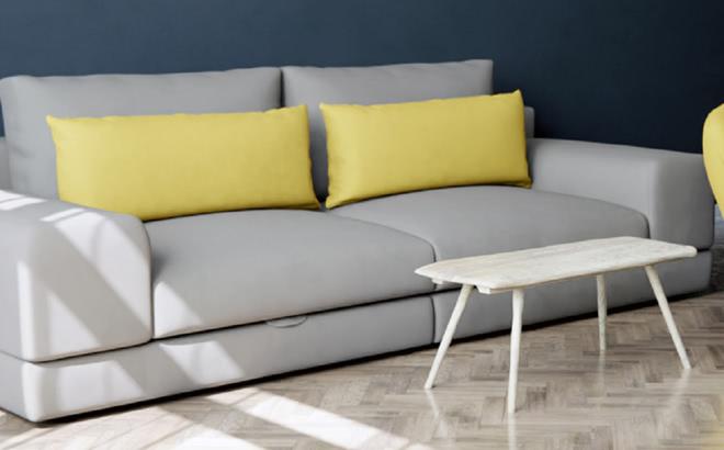 Трехместный диван Dario в интерьере