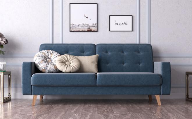 Трехместный диван Savoia в интерьере