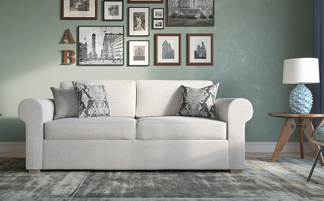 Трехместный диван Vittorio в интерьере