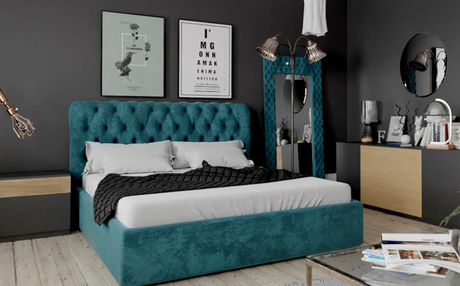 Ліжко Milania в інтер'єрі