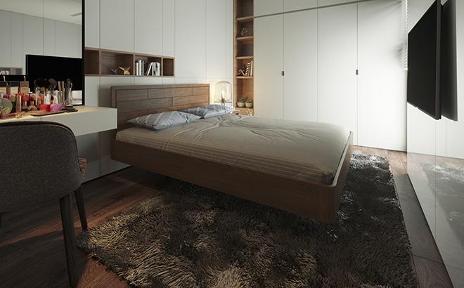 Ліжко Nicola Ясен в інтер'єрі
