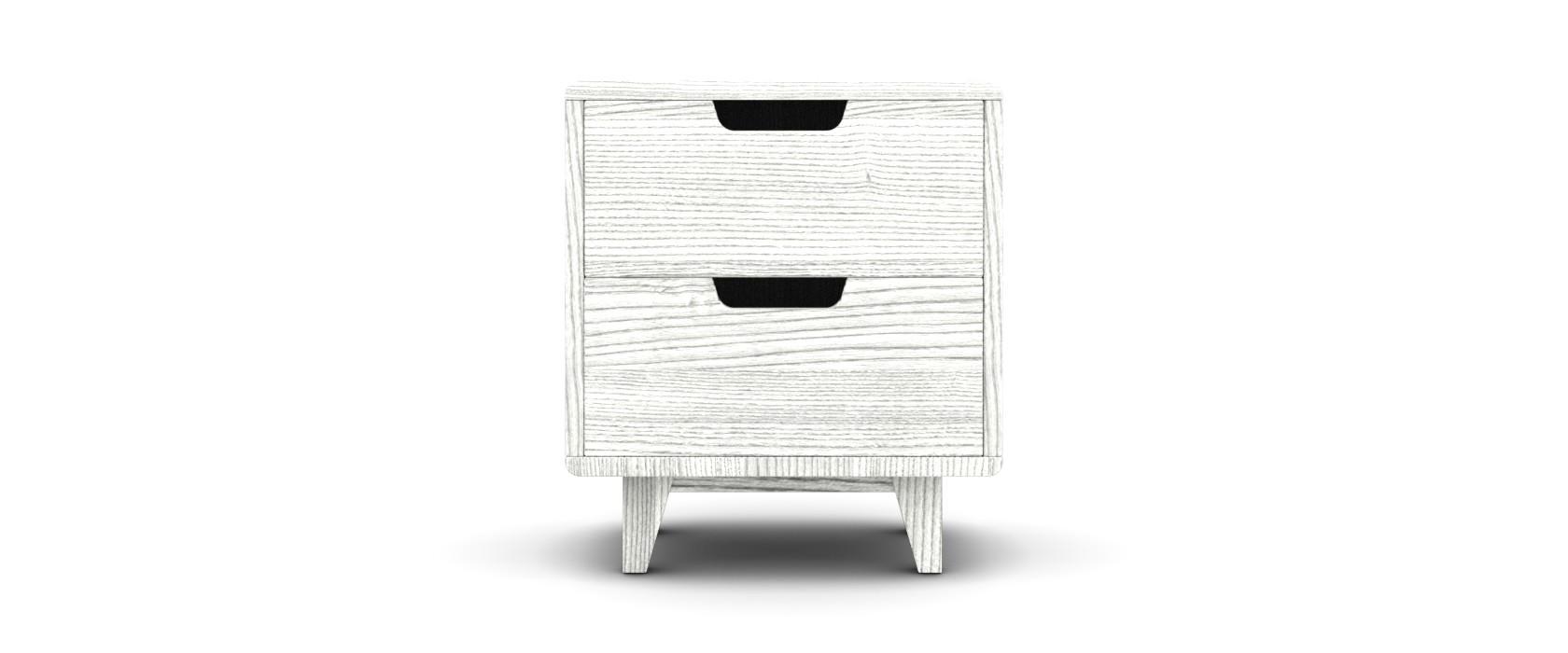 Тумба прикроватная Casimiro Ясень с 2 ящиками - Pufetto
