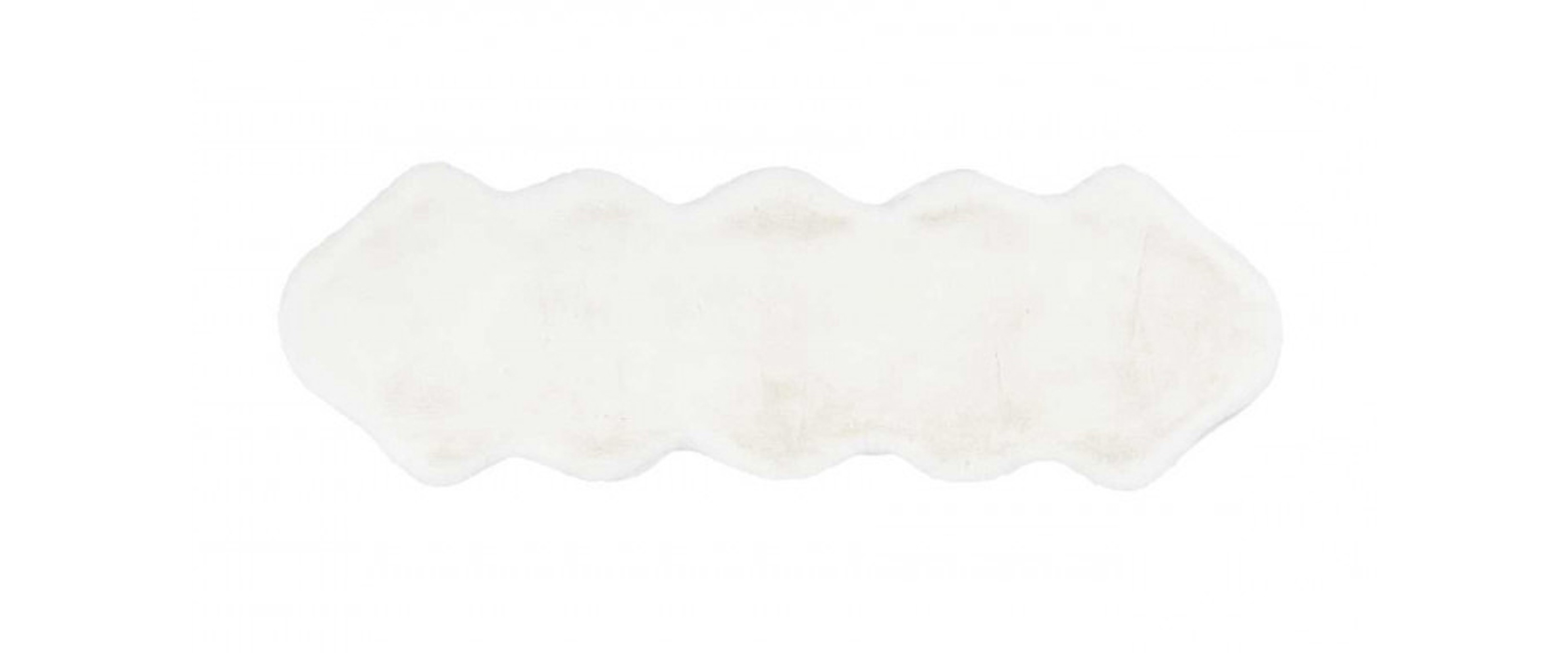 Килим Rabbit Double Sheepskin White 60x180 см - Pufetto