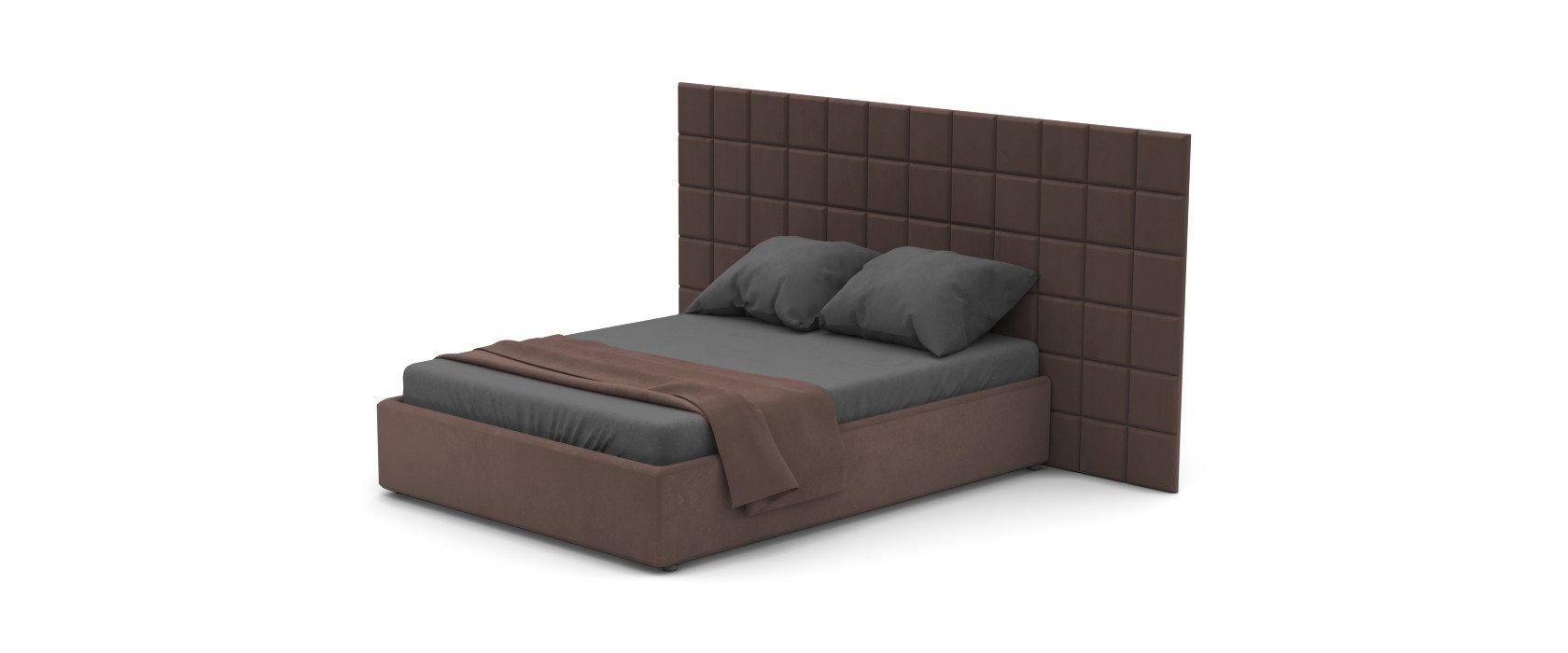Кровать Piazza Plus со стеновыми панелями
