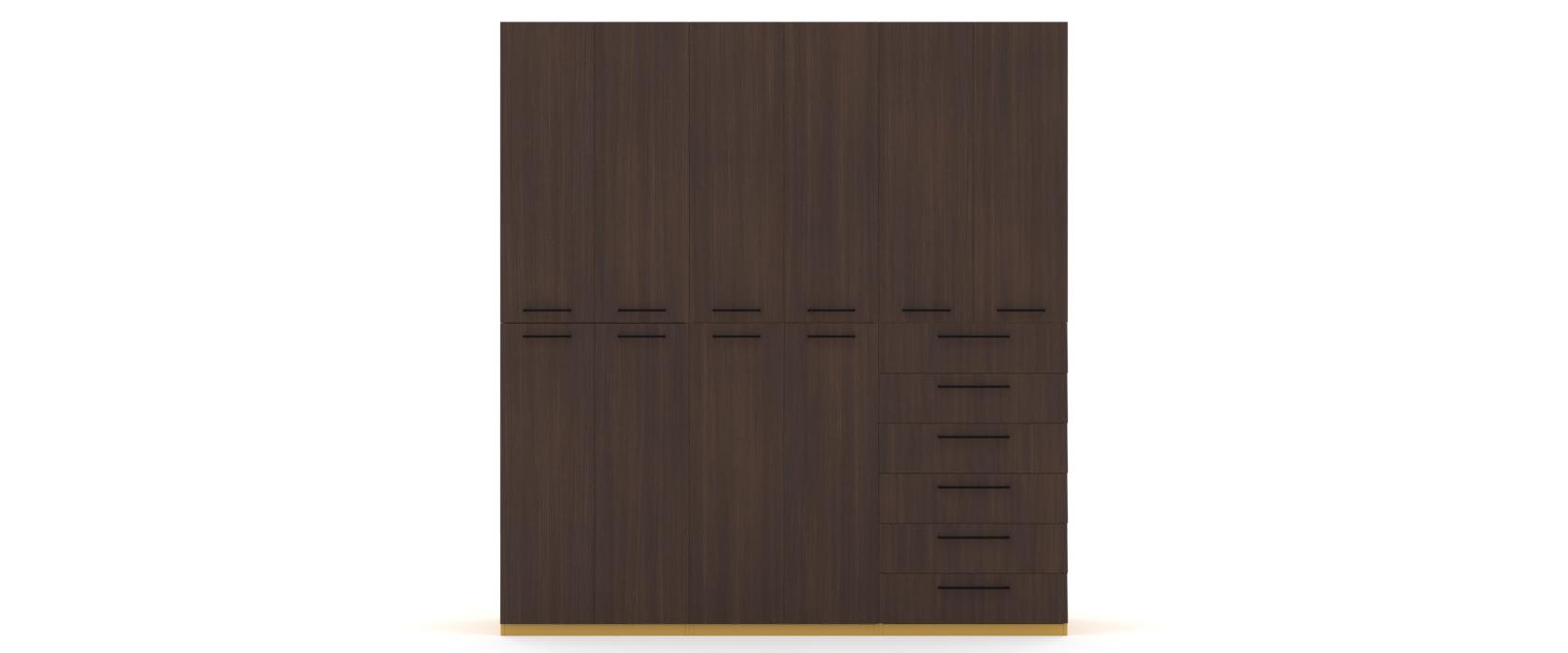 Шкаф Arino 3 модуля с разделенными горизонтально фасадами - Pufetto