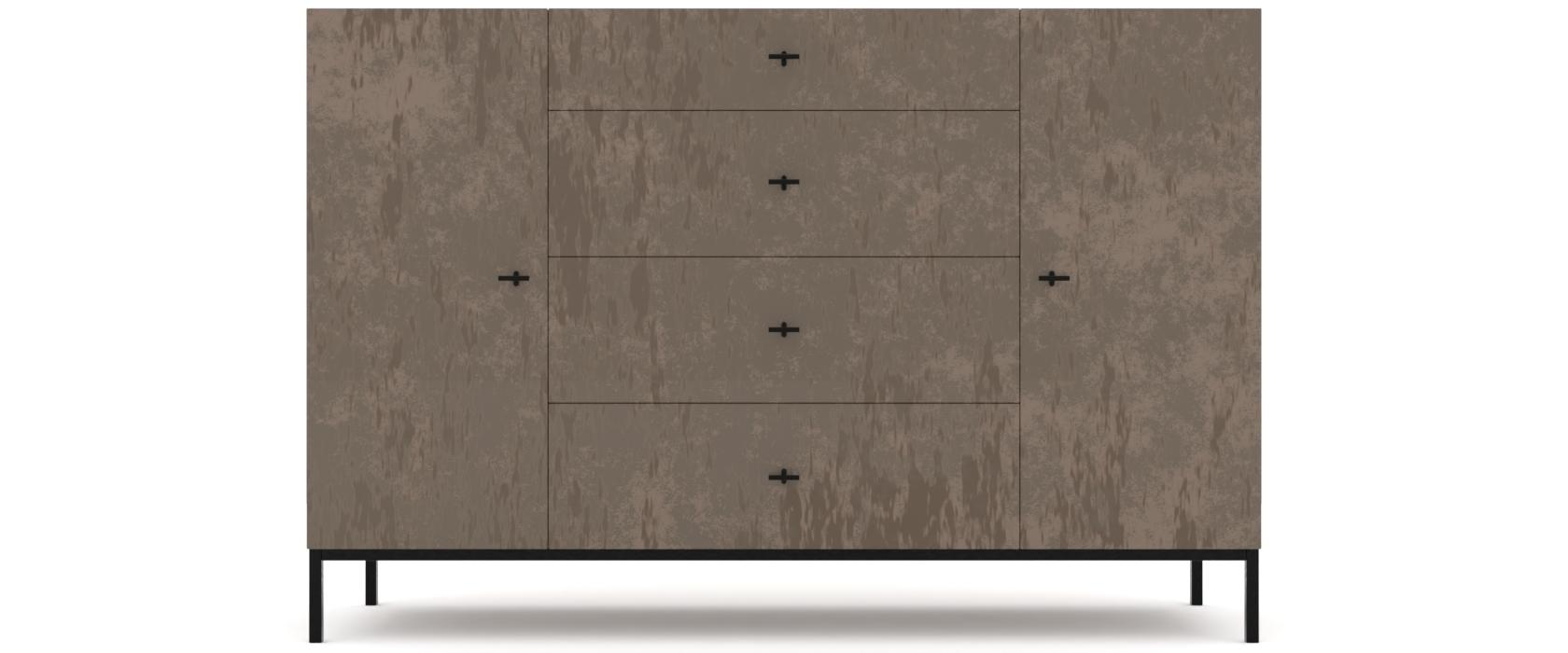 Комод Rollini с 4 ящиками и 2 дверцами - Pufetto