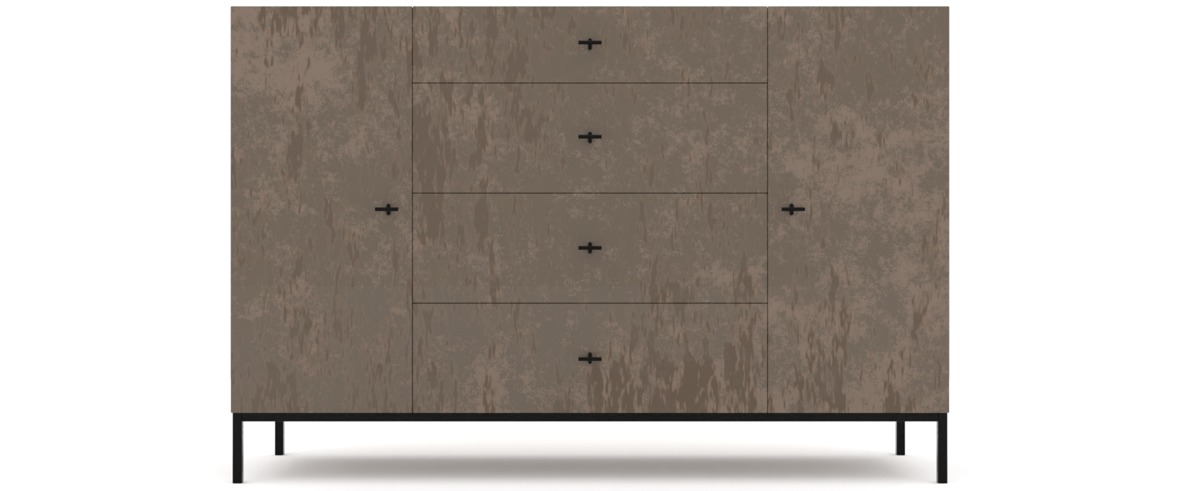 Комод Rollini з 4 ящиками і 2 дверцятами - Pufetto