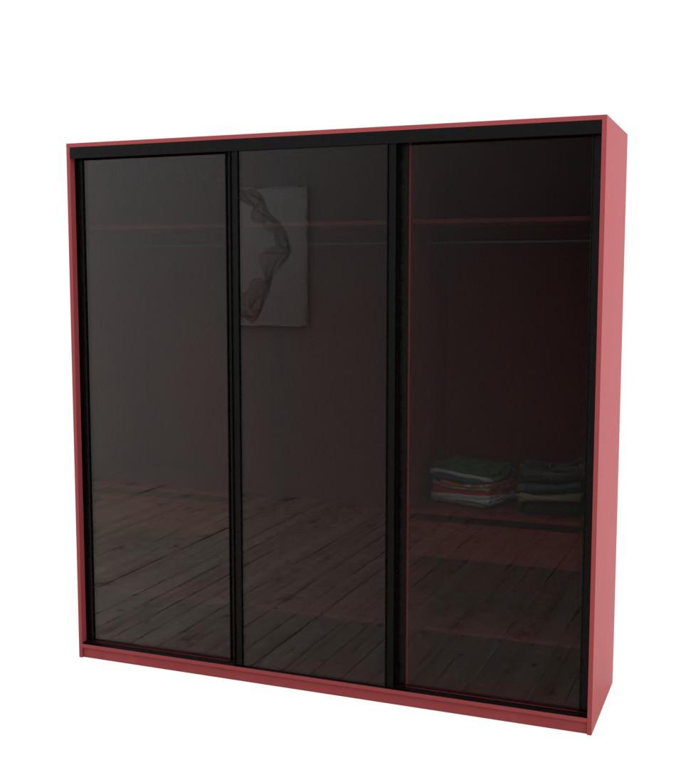 Шкаф-купе Arino 3х дверный с цельными стеклянными фасадами - Pufetto