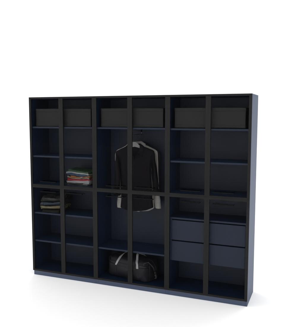 Шкаф Arino 3 модуля с разделенными горизонтально стеклянными фасадами
