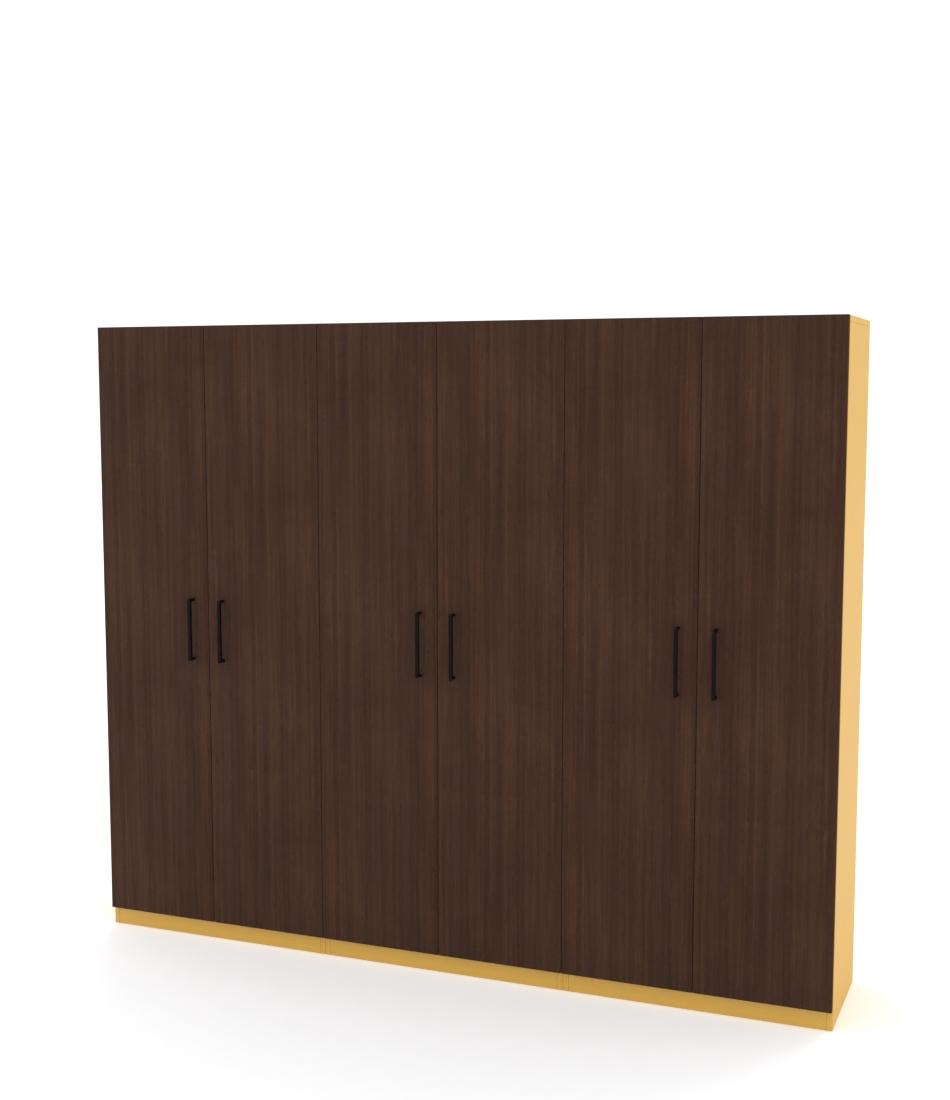 Шкаф Arino 3 модуля с цельными фасадами