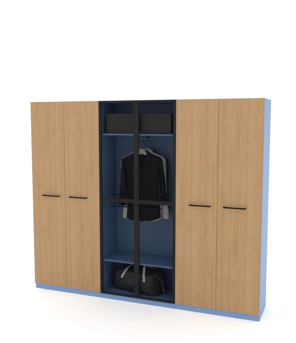 Шкаф Arino 3 модуля с комбинированными фасадами