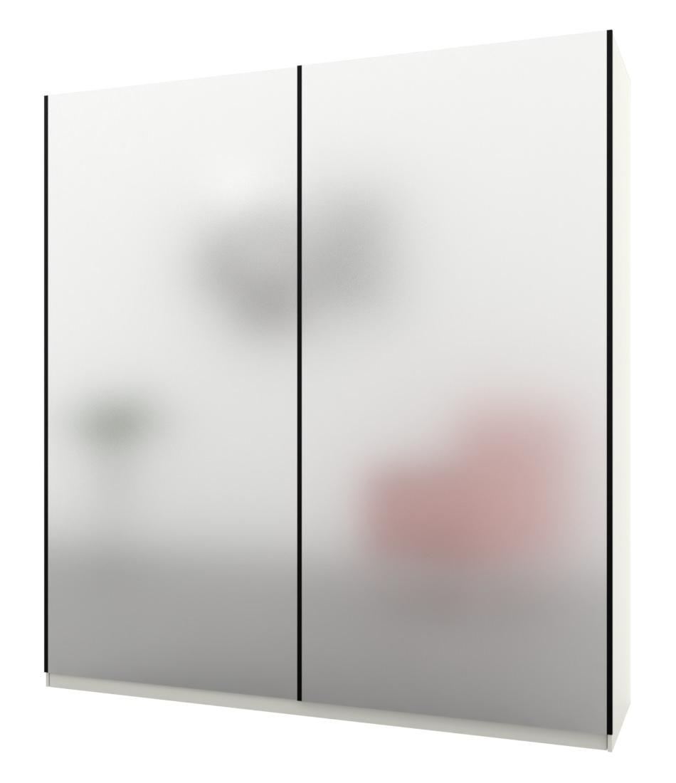 Шкаф-купе Bellissimo 2х дверный с цельными фасадами стекла - Pufetto