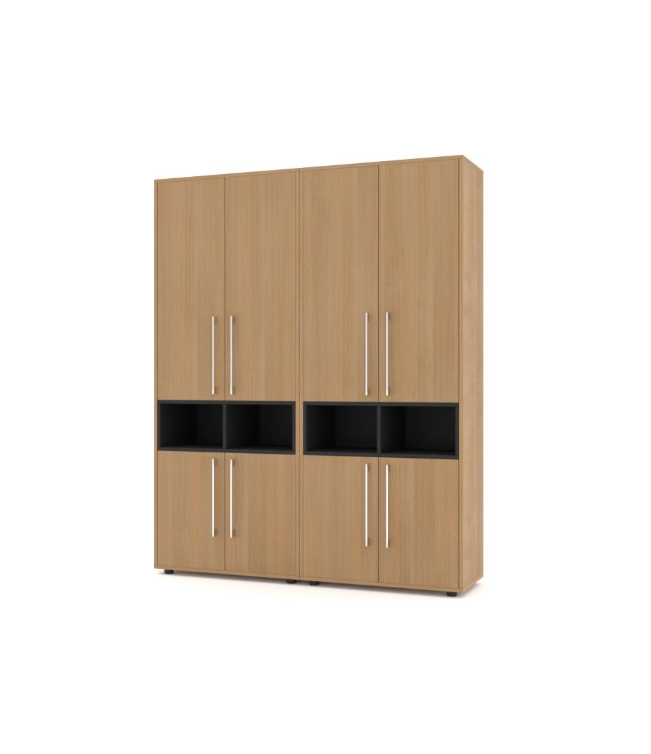 Шкаф Merini 2 модуля с горизонтально разделенными фасадами с нишами