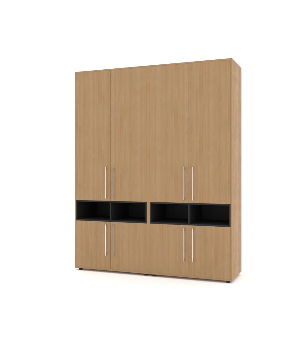 Шкаф Merini 2 модуля с горизонтально разделенными фасадами с нишами - Pufetto