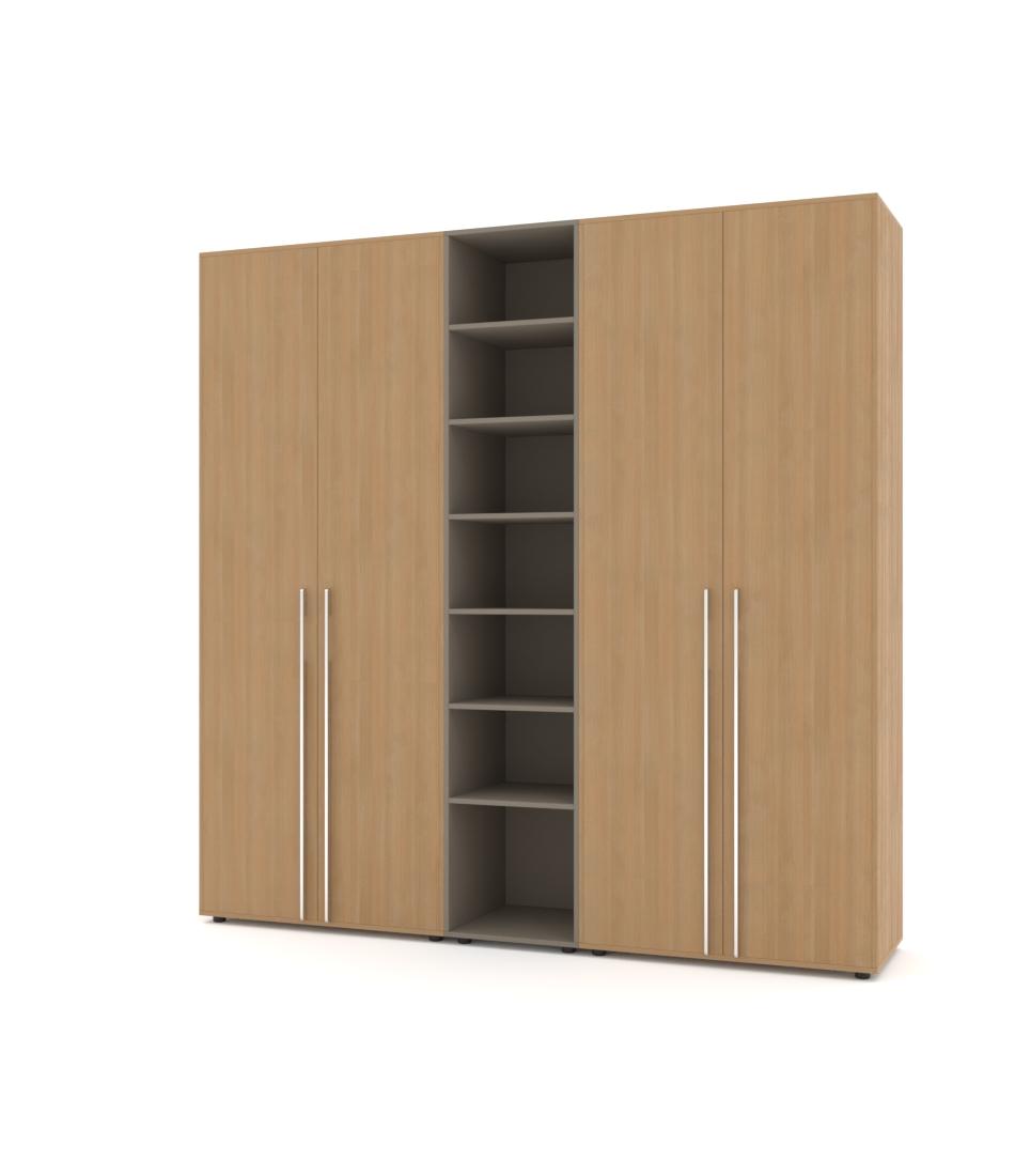 Шафа Merini 2 модулі з цільними фасадами і модуль з полицями - Pufetto