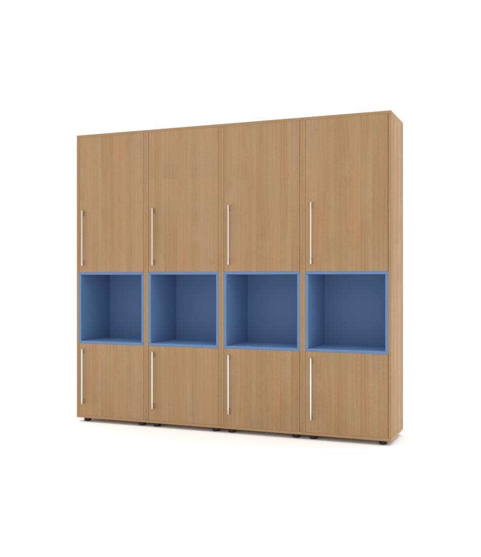 Шкаф Merini 5 модулей с разделенными горизонтально фасадами и нишами
