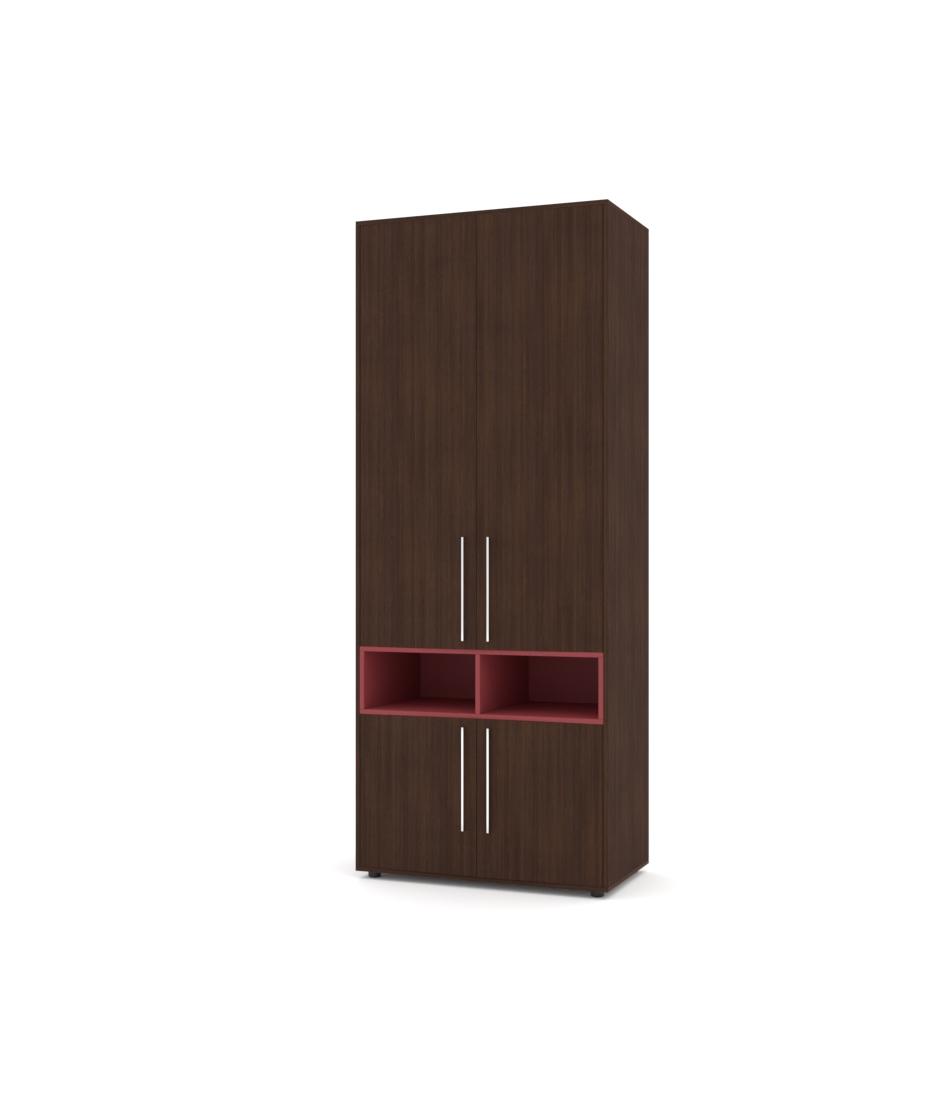 Шкаф Merini модуль с разделенными горизонтально фасадами и нишей - Pufetto
